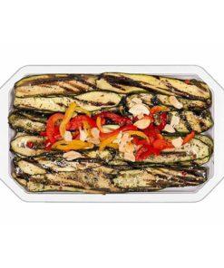 Courgettes en tranches grillées dans l'huile de tournesol