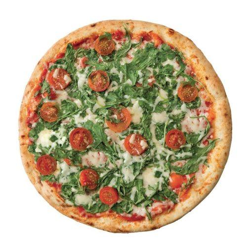 Pizza BIO roquette et tomates cerise