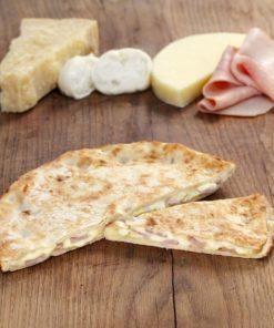 Focaccia jambon et fromage